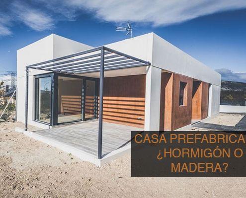 casa prefabricada de madera o de hormigon