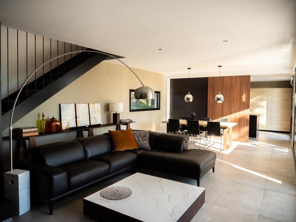 salón moderno casa prefabricada