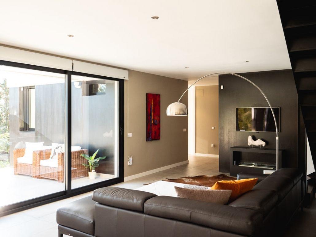 salon en vivienda modular