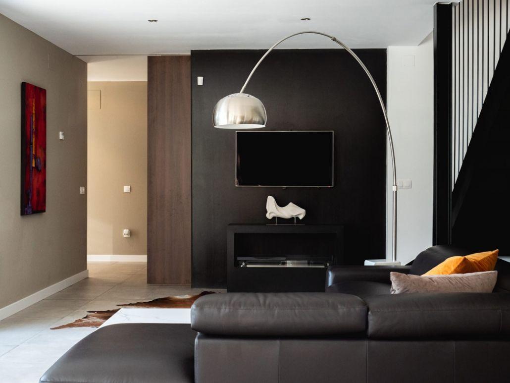 salon vivienda modular de hormigon