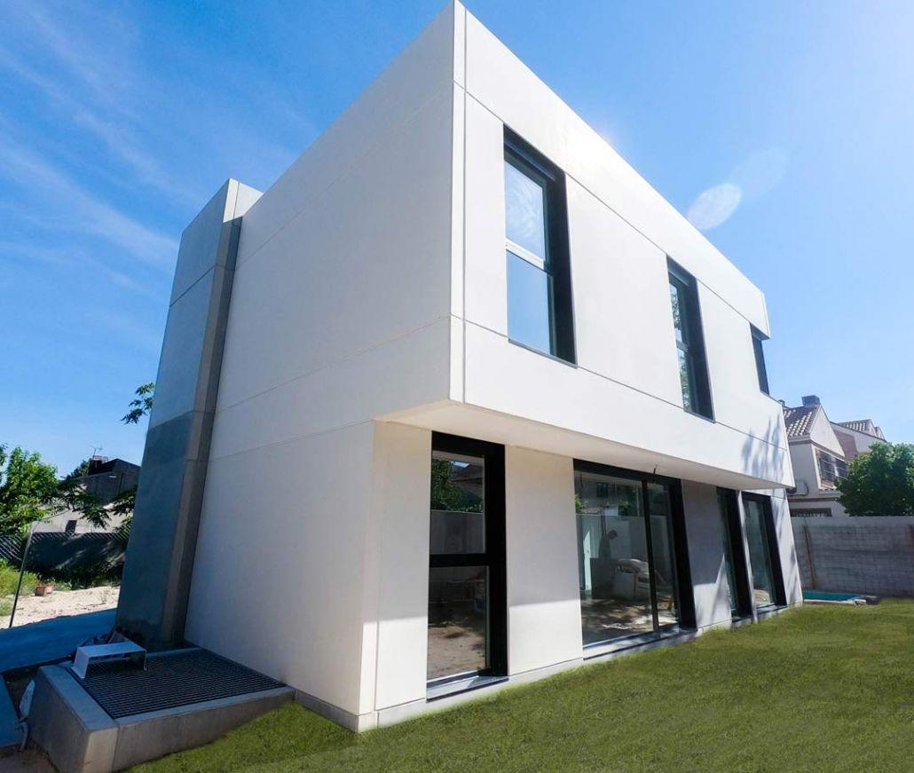 Casa prefabricada de hormigon de diseño en madrid centro
