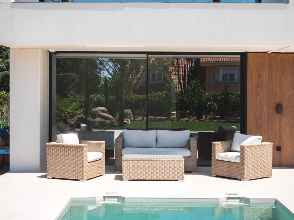 porche piscina